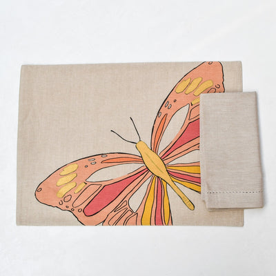 Viona Butterfly Print Placemats with Napkins - Set of 2 - Home Artisan_3