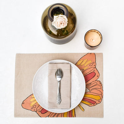 Viona Butterfly Print Placemats with Napkins - Set of 2 - Home Artisan_7