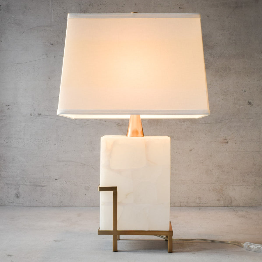 Waldorf Marble and Brass Table Lamp