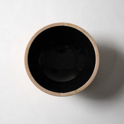 Claudia Mango Wood Bowl with Black Enamel - Home Artisan_3
