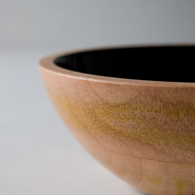 Claudia Mango Wood Bowl with Black Enamel - Home Artisan_4