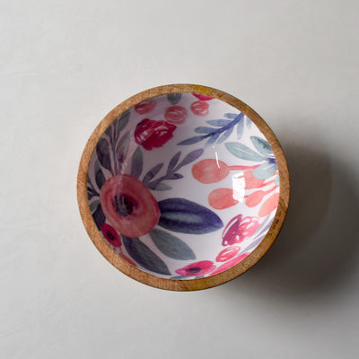 Priscilla Mango Wood Bowl with Floral Pattern - Home Artisan_3