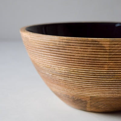 Chloe Mango Wood Bowl with Black Enamel - Home Artisan_4