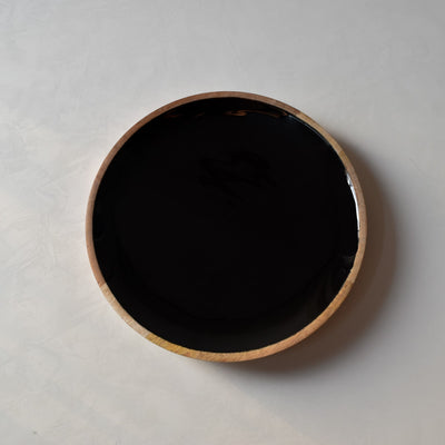 Claudia Mango Wood Platter with Black Enamel - Home Artisan_1