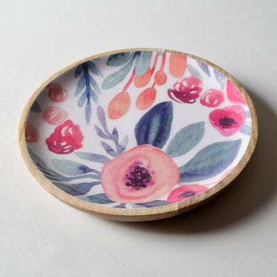 Priscilla Mango Wood Platter with Floral Pattern - Home Artisan_3