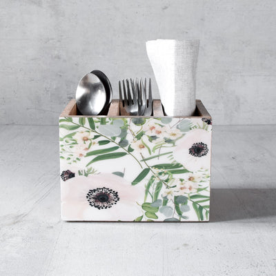 Emily Mango Wood Cutlery Holder