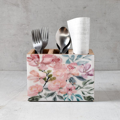 June Mango Wood Cutlery Holder