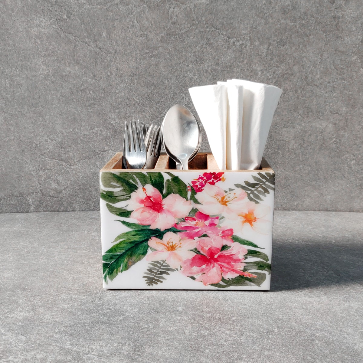 Alicia Mango Wood Cutlery Holder