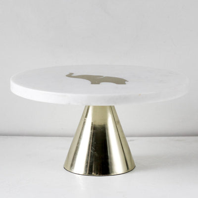 Ollie Marble Server with Brass Inlay - Home Artisan