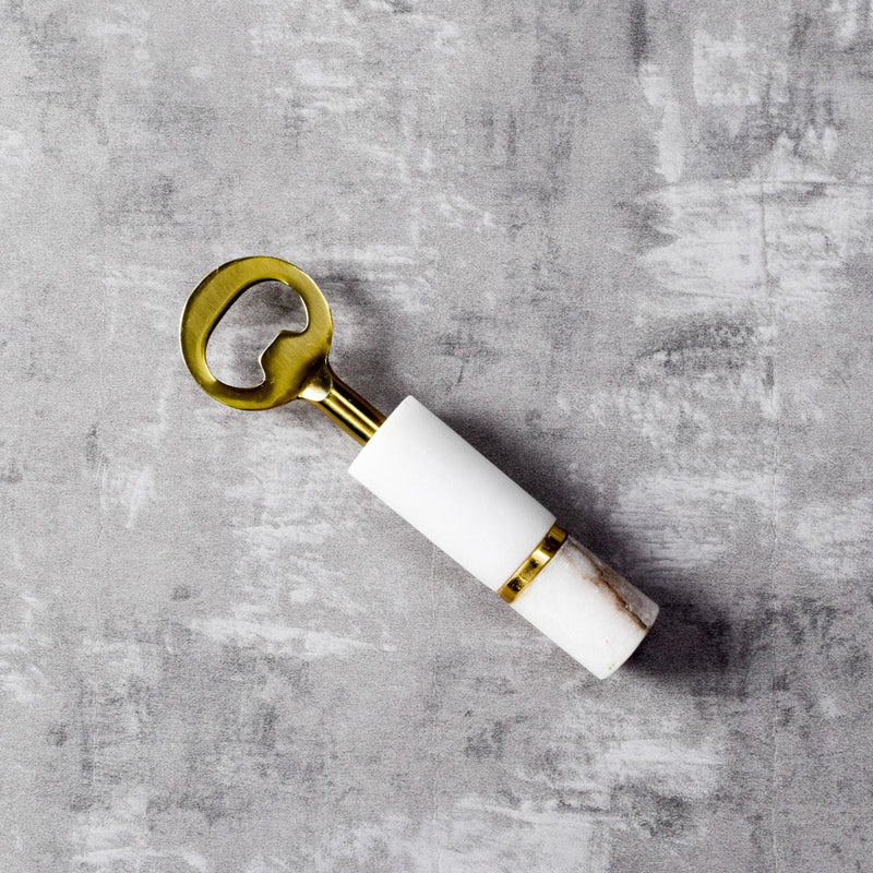 Irving Marble and Brass Bottle Opener - Home Artisan