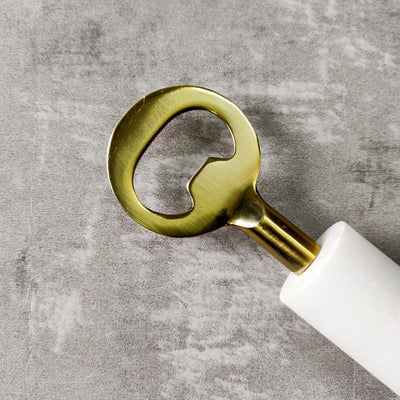 Irving Marble and Brass Bottle Opener