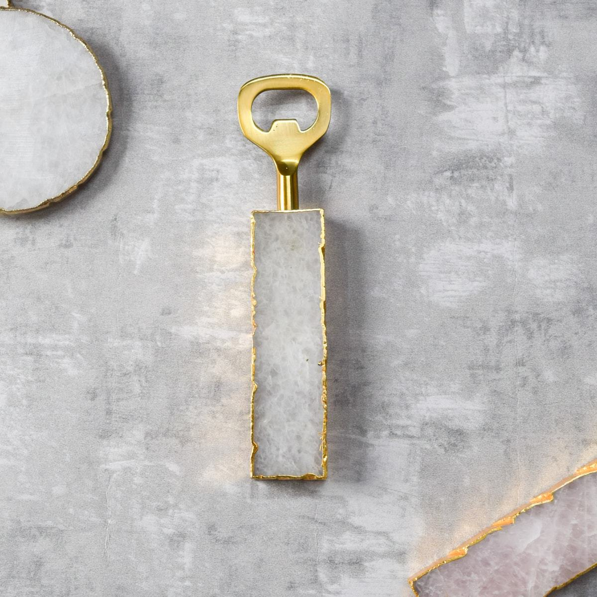 Amora White Quartz Bottle Opener - Home Artisan