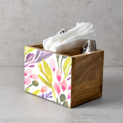 Marbela Mango Wood Cutlery Holder