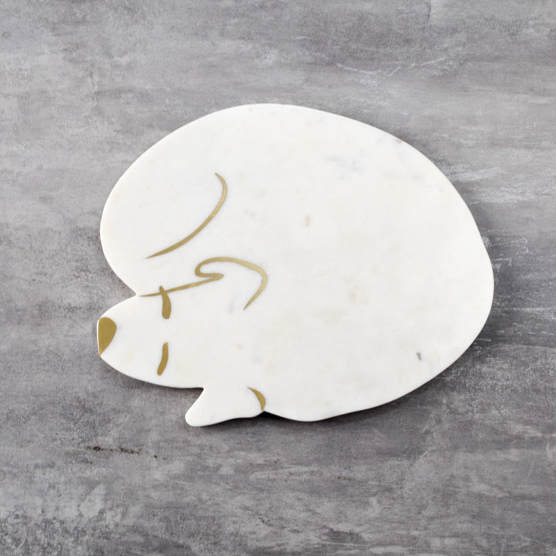 Brooks Marble and Brass Dog Platter  - Home Artisan