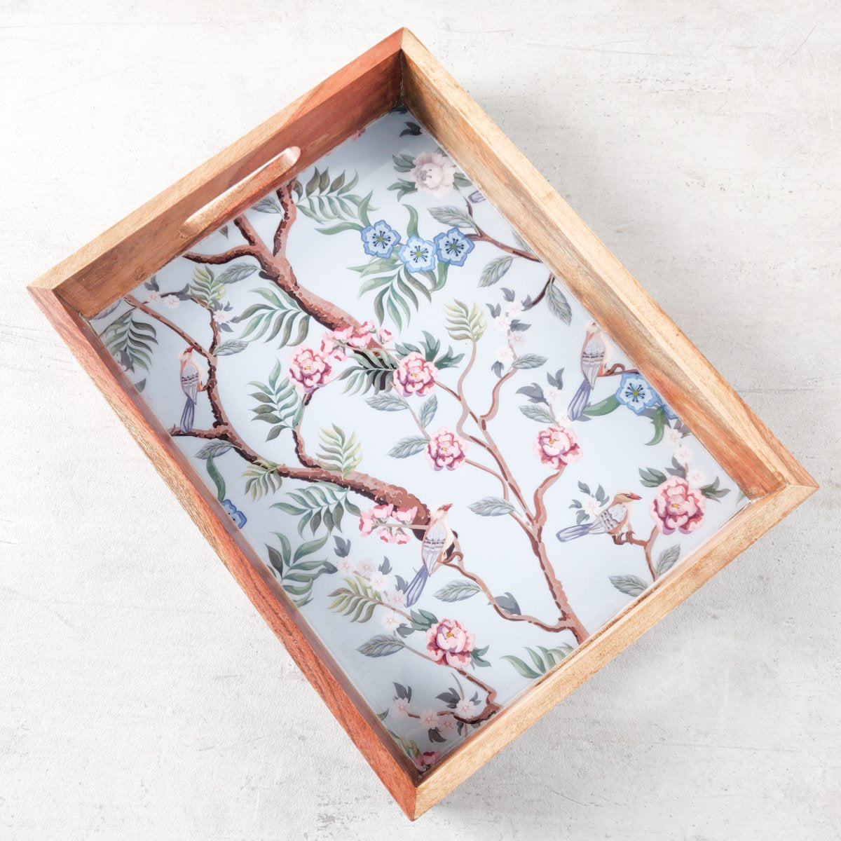 Kowloon Park Mango Wood Tray - Home Artisan