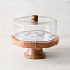 Kowloon Park Mango Wood and Glass Dome Server - Home Artisan