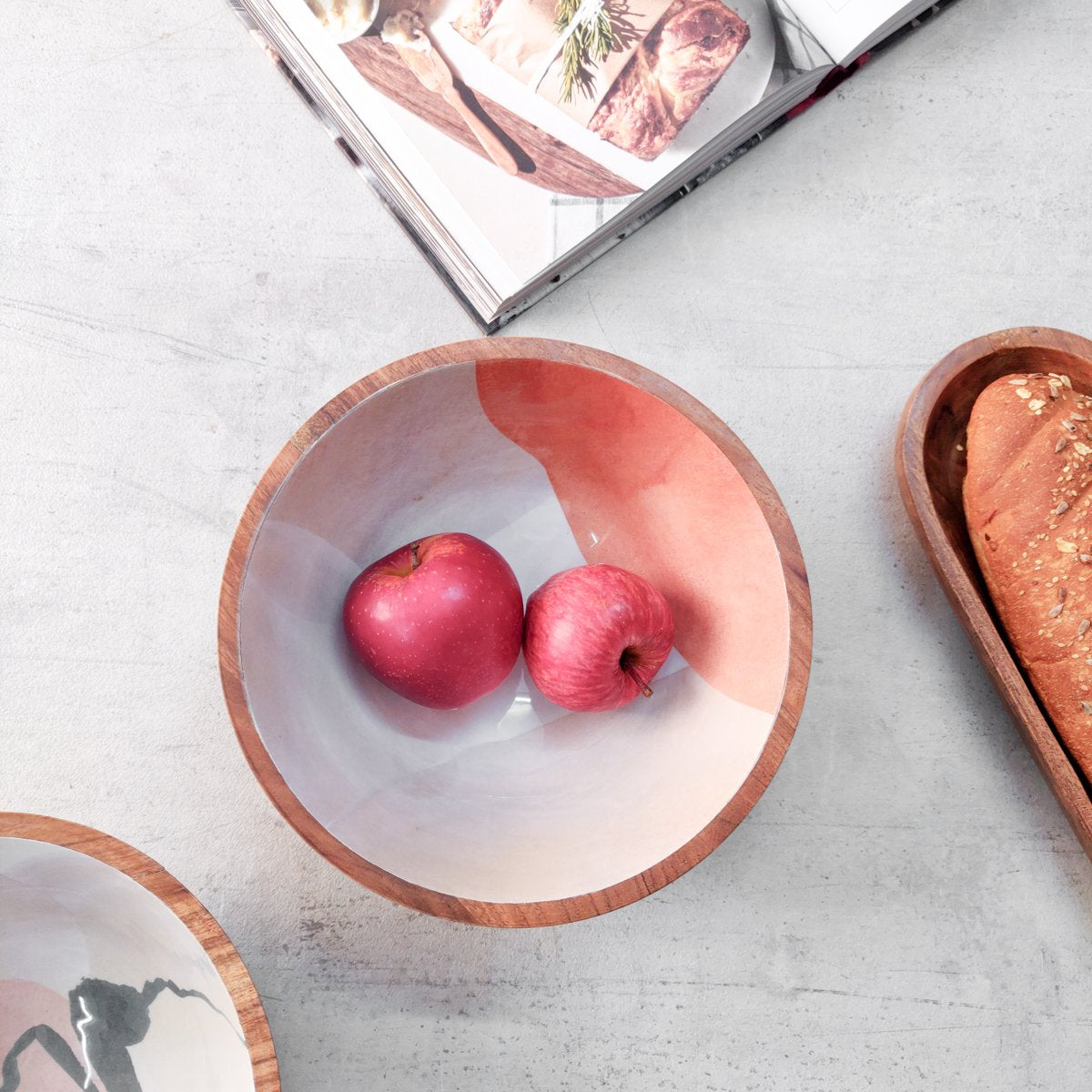 Shades of Terracotta Mango Wood Bowl - Home Artisan