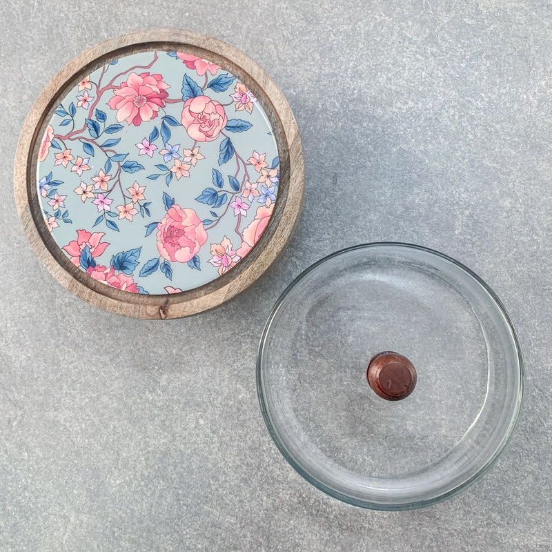 Ophelia Glass Dome and Mango Wood Cake Stand - Home Artisan