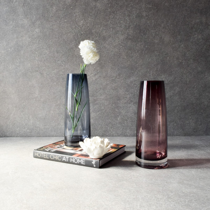 Arlina Smoky Glass Vase - Home Artisan