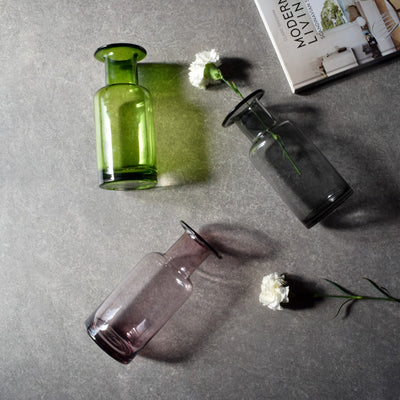 Elsa Smoky Glass Vase - Home Artisan_3