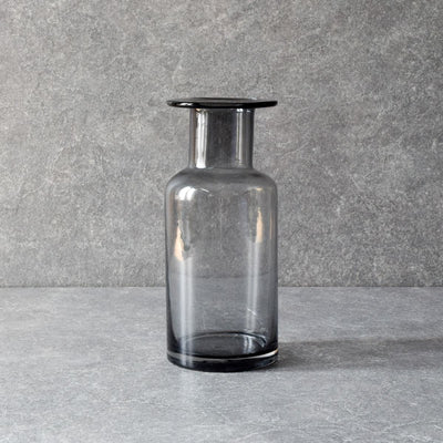 Elsa Smoky Glass Vase - Home Artisan