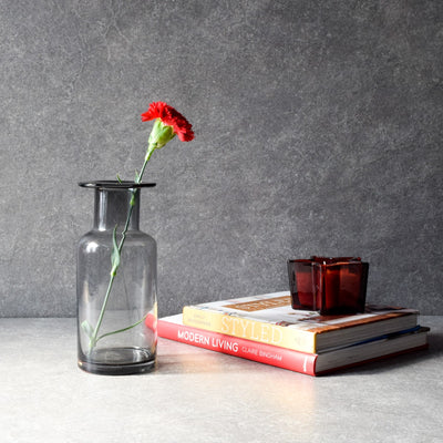 Elsa Smoky Glass Vase - Home Artisan_1