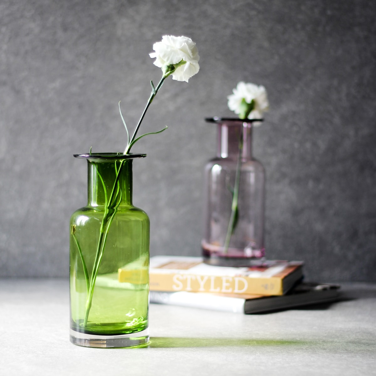 green market glass high vintage products vases street bubble vase