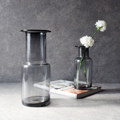 Olivia Smoky Glass Vase - Home Artisan_1