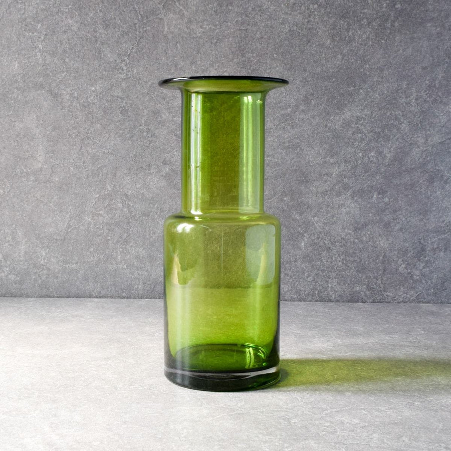 Olivia Green Glass Vase
