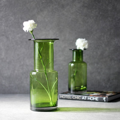 Olivia Green Glass Vase - Home Artisan_1