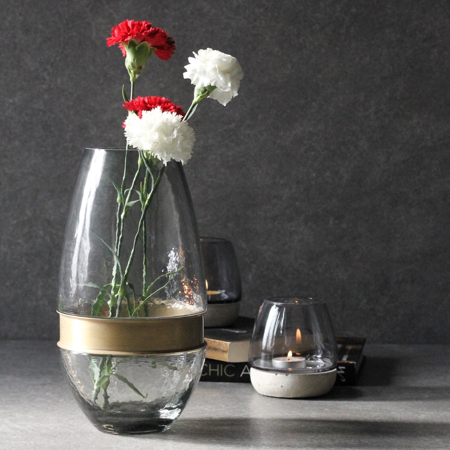 Nolan Smoky Glass Vase