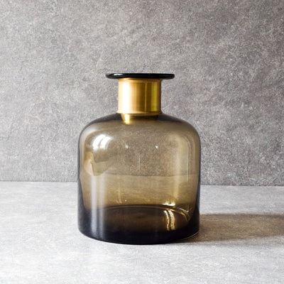 Sanderson Brown Glass Vase (Large) - Home Artisan