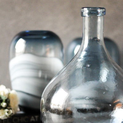 Spencer Blue Glass Vase - Home Artisan_3