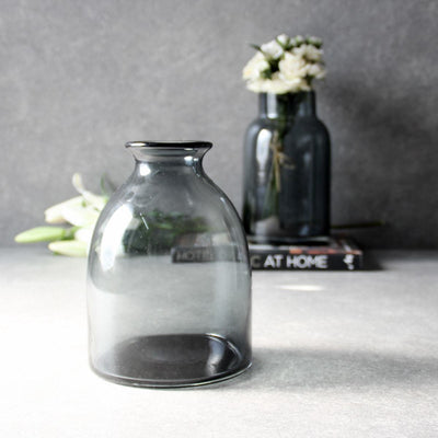 Terry Blue Glass Vase - Home Artisan