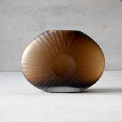 Nautilus Brown Glass Vase