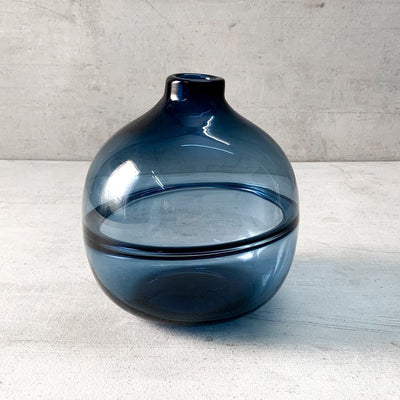 Colin Blue Glass Vase - Small - Home Artisan