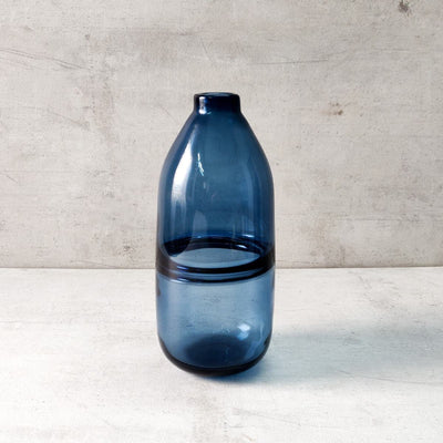 Colin Blue Glass Vase - Tall - Home Artisan