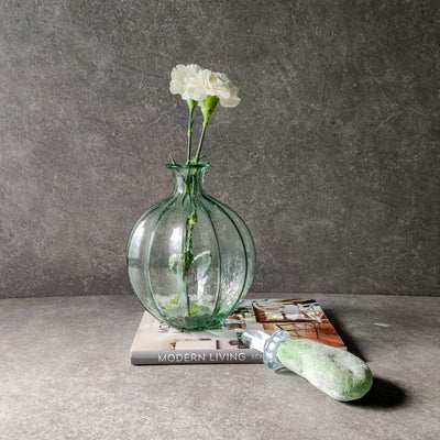 Seraphina Glass Vase With Green Top