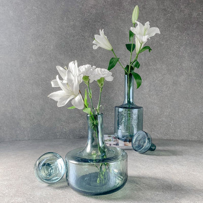 Schnell Blue Glass Vase (Small) - Home Artisan