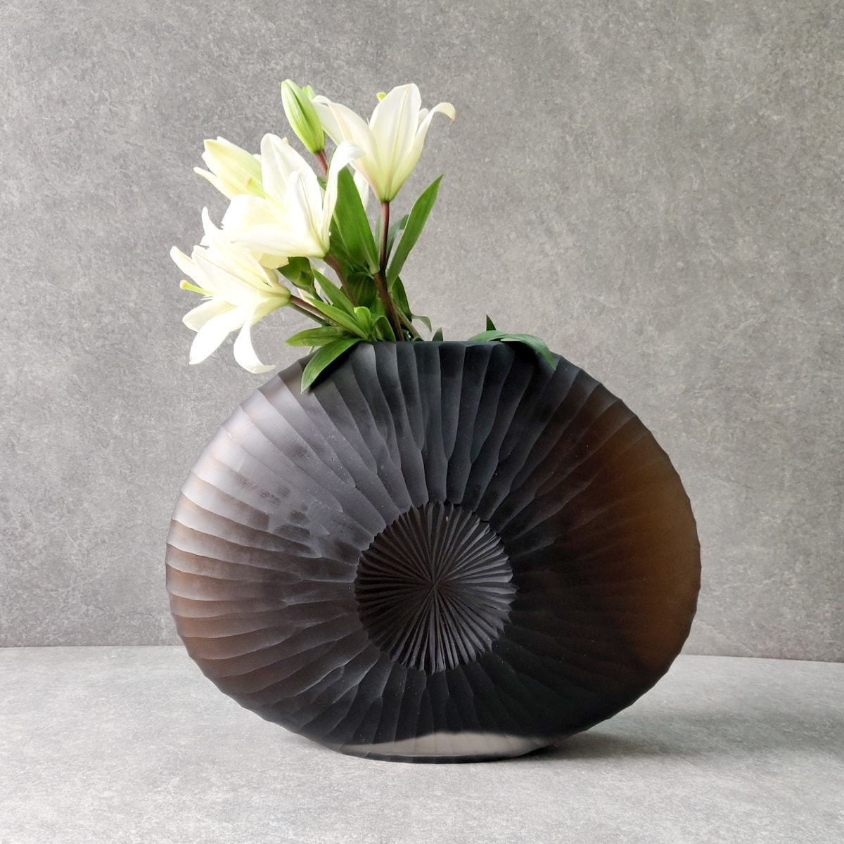 Nautilus Brown Glass Vase (Large)