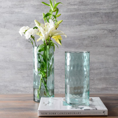Visenna Sea Green Glass Vase - Short