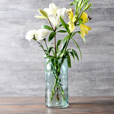 Visenna Sea Green Glass Vase (Short) - Home Artisan