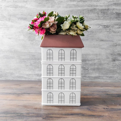 Emerens Dutch House Ceramic Vase (Tall) - Home Artisan