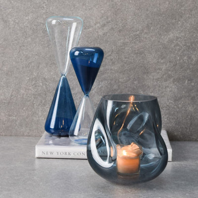 Ivaan Blue Glass Vase - Home Artisan