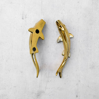 Cleo Gold Fish Ceramic Wall Sculptures - Set of 3
