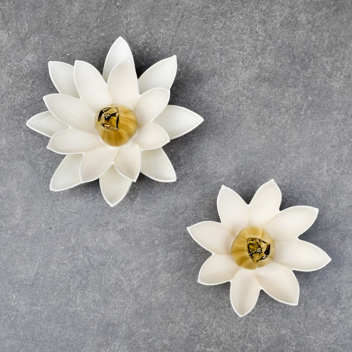 Lotus Flower Ceramic Wall Sculptures