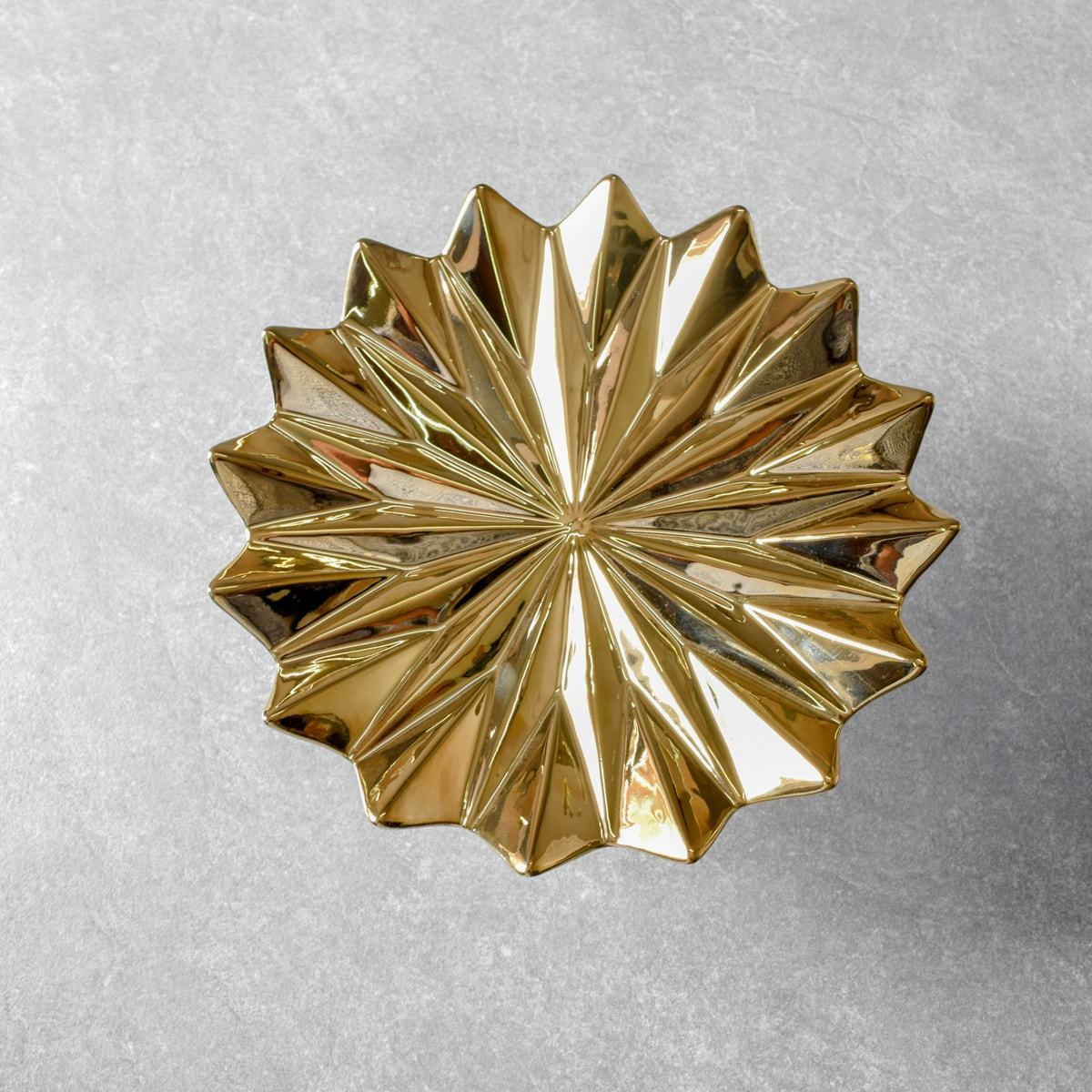 Golden Leaf Ceramic Wall Sculpture (Large) - 1 Piece - Home Artisan