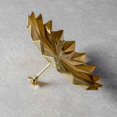 Golden Leaf Ceramic Wall Sculpture (Large)