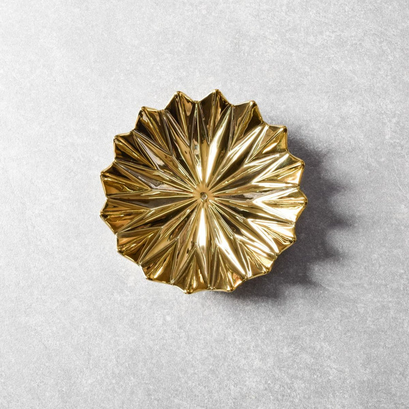 Golden Leaf Ceramic Wall Sculpture (Small) - Set of 2 - Home Artisan