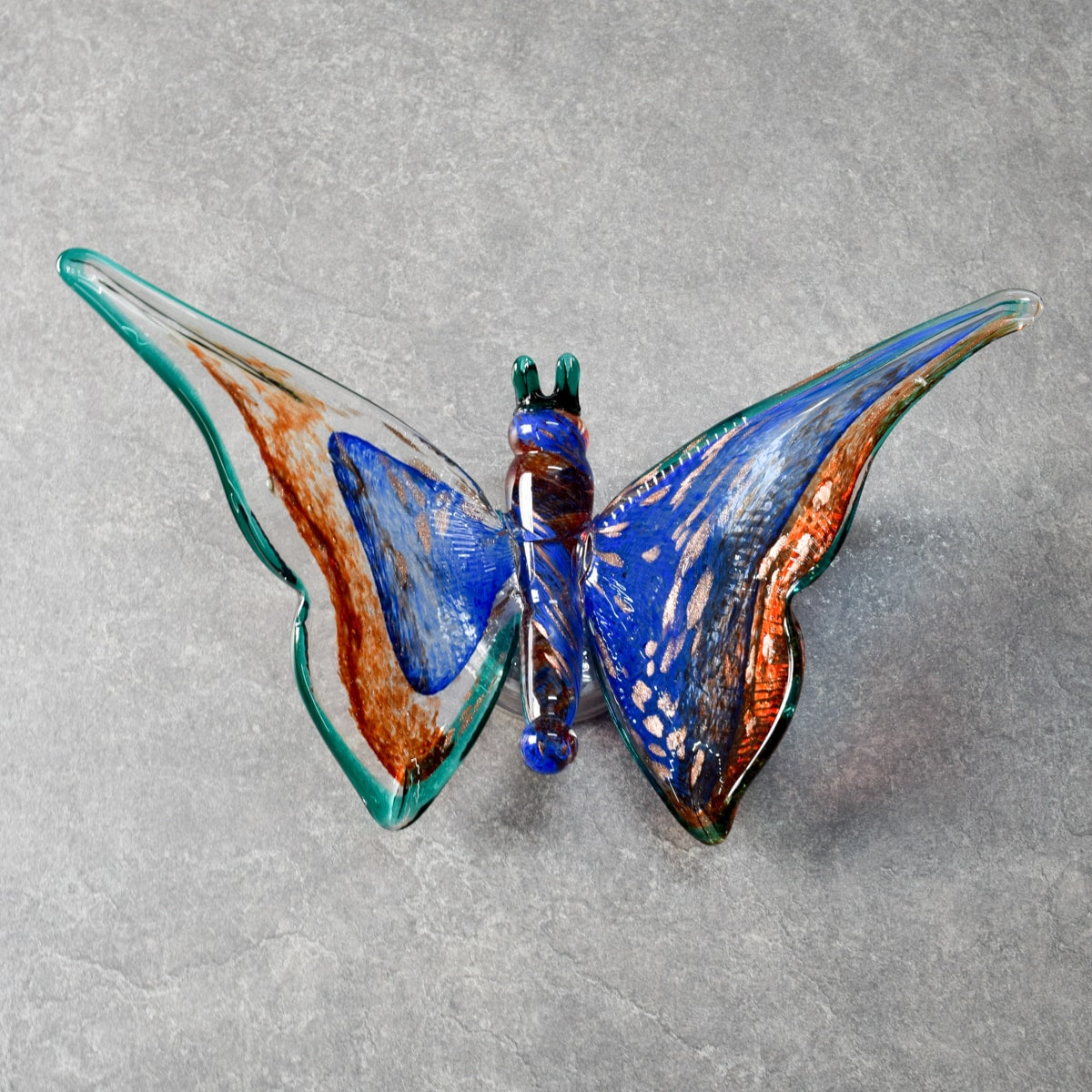 Azura Blue Butterfly Glass Wall Sculpture